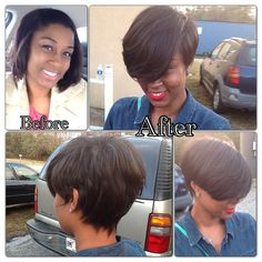 Hairecuts can change EVERYTHING. Part PIXIE, Part BOB .... all FABULOUS !!   Book today at www.rhythmhairstudio.com
