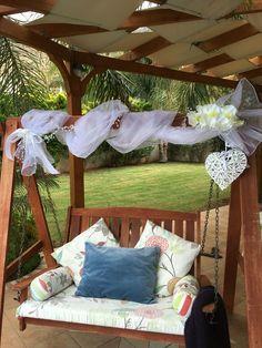 Garden swings wedding