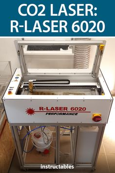 Build your own 40W CO2 laser cutter with 600 by 230 mm working are and 1000 mm/s engraving speed. #Instructables #workshop #tools #lasercut #industrial Steel Water Tanks, Door Switch, The Door Is Open, Stepper Motor, Cable Management, Vacuum Forming, Robotics, Arduino, Laser Cutting
