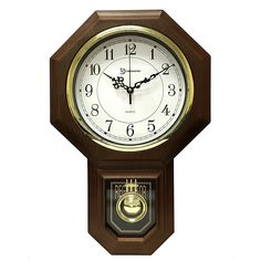 Essex Westminster Chime Faux Wood Pendulum Wall Clock