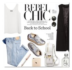 """Back to School"" by stellaasteria ❤ liked on Polyvore featuring BUSCEMI, Zara, MANGO, STELLA McCARTNEY, Montegrappa, Calvin Klein and Miu Miu"