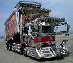 Dekotora Trucks The Anese Custom Truck Crowd Love Those Cow Catchers And Chrome