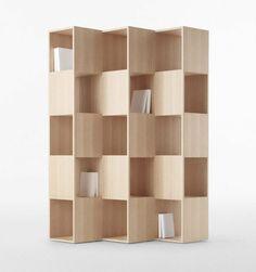 meuble bibliothèque bois minimaliste