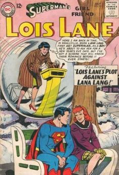 Not a mad stalker or anything. Lois Lane uses her time machine.  #Superman #LanaLang #LoisLane #TimeMachines