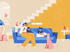 Family Illustration, Flat Illustration, Illustrations, Creative Brochure, Animation Tutorial, Character Design Animation, Freelance Illustrator, Motion Design, Motion Graphics