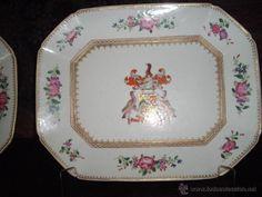 2 FUENTES PORCELANA CHINA MUY BUEN ESTADO ANTIGUAS (Antigüedades - Porcelanas y Cerámicas - Otras)
