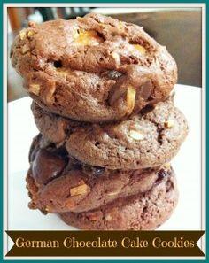 Cake Mix Cookies: German Chocolate