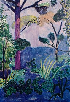 Henri Matisse, Paysage marocain (acanthes), 1912, huile sur toile