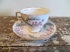 Colclough Tea Cup Collectible Tea Cup Pink by VintageShoppingSpree, $28.00