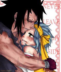 After battle hugs ~Gajeel x Levy by PastrieCake on deviantART