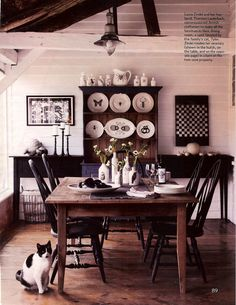windsor chairs with farm table