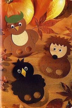 Ősz – Anya játsszunk! Autumn Activities, Craft Activities For Kids, Crafts For Kids, Hand Puppets, Finger Puppets, Finger Puppet Patterns, Scarecrow Crafts, Rainbow Nursery, Cute Fairy