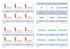 Un jeu de conjugaison pour apprendre et mémoriser la conjugaison à l'imparfait des verbes finir - agir - courir - partir. Cycle 3, Mindfulness, Memories, Teaching, Education, School, Life, Montessori, Frans