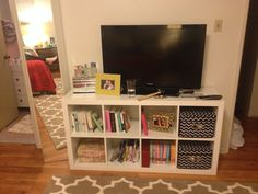 Simple yet a fun idea for a TV stand from IKEA