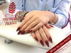 Nice Nails – Nail Design   Nail Art by My Nice Nails – ⓌⒽⒶⓉ ⒹⓄ ⓎⓄⓊ ⓉⒽⒾⓃⓀ? For more inspiration and info visit us at www.mynicenails.ch #MyNiceNails #gelnails #nails #nailstagram #nailswag #naildesigns #nailart #nailartdesigns #manicure #pedicure #nailpolish #shellac #shellacnails #gelnailszurich #manikürezürich #nailszürich #gelnägelzürich #nailsalonzurich #gellackzürich #nailstudiozurich Nail Swag, Red Nail Designs, Nail Polish, Shellac, Red Nails, Nails Inspiration, Nail Care, Pedicure, Hair Beauty