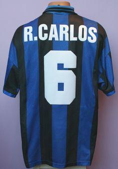 9384467b0d R.carlos   6 inter milan 1995 1996 home shirt umbro pirelli size l