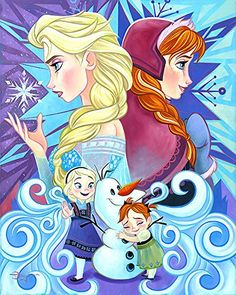 Frozen We Only Have Each Other Elsa Anna Olaf Tim Rogerson LE 195 30x24 Canvas Signed NEW Giclee @ niftywarehouse.com #NiftyWarehouse #Frozen #FrozenMovie #Animated #Movies #Kids