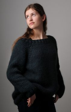 Chunky Sloppy Joe Sweater in blueberry muffin