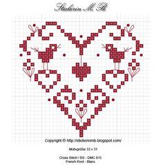 Freebie-Blog Stickerin M.B.: Herz  free chart