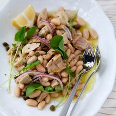 Tuna-and-White-Bean Salad | Purists would insist on imported Italian canned tuna…