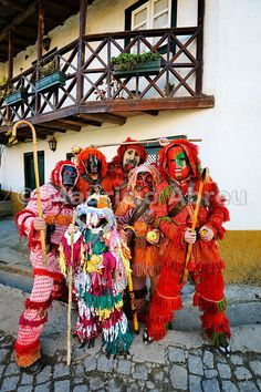 Traditional masks used during the Winter Festivities. Grijó de Parada, Trás-os-Montes, Portugal