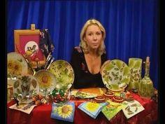 Декупаж декоративных тарелок в технике росписи по стеклу. Мастер класс