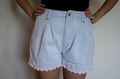 Vintage Light Denim High Waist Shorts. $18