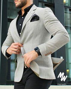 de mode pour hommes ID: 4459005221 Blazer Outfits Men, Mens Fashion Blazer, Suit Fashion, Blazer Suit, Fashion Boots, Casual Outfits, Formal Men Outfit, Men Formal, Stylish Men