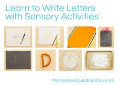 How to Write Letters Using Sensory Activities -- Moms Have Questions Too