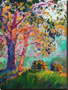 Paso II Stretched Canvas Print by Erin Hanson at Art.com