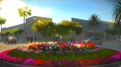 Retail center rendering