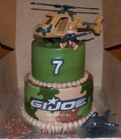 G.I.Joe Cake & Cupcakes - by SugarSweetCakes @ CakesDecor.com - cake decorating website