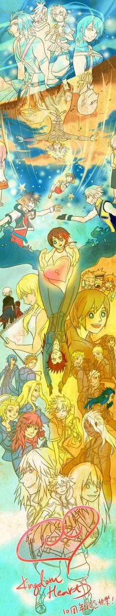 KH 10th Anniversary. by ~SiReLess on deviantART<< Kingdom Hearts in a nutshell.