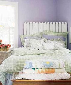 29 best bed headrest images bed room, bed stand, bedroomswhite picket fence headboard gorgeous with the lavendar walls