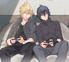 Discovered by Zo Kyoo. Find images and videos about video games and final fantasy xv on We Heart It - the app to get lost in what you love. Noctis Final Fantasy, Final Fantasy Cloud, Final Fantasy Artwork, Final Fantasy Characters, Final Fantasy Vii Remake, Final Fantasy Xv Wallpapers, Anime Manga, Anime Guys, Mononoke Anime