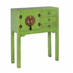 Mueble Chino Consola Verde 2 puertas. #Muebles #chinos y #orientales en nuryba.com tu #tienda #online de #decoracion de #interiores en #Madrid