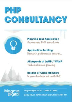 PHP Consultancy is a core skill of Magma. Nineteen years of commercial experience & a team of highly skilled developers work onsite with you, or remotely Preston, Php, A Team, In This Moment, How To Plan, Digital, Christmas, Xmas, Weihnachten