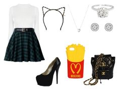 """""""ariana grande"""" by hope-rees on Polyvore featuring Links of London, Chanel, Moschino and Tasha"""