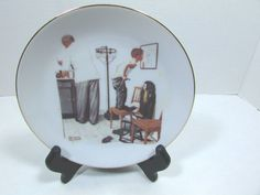 Vintage Collectible Norman Rockwell Plate Before The Shot C. 80's