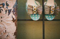 ICEHOUSE WEDDING, BLUE POLKA DOT HEELS