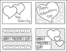 Printable Coloring Valentine Cards – Valentine\'s Day Info