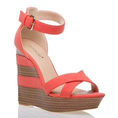 Strappy wedge.