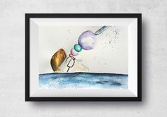 Fear, watercolor illustration by Tatiana Feiry Furlan by FeiRy on Etsy