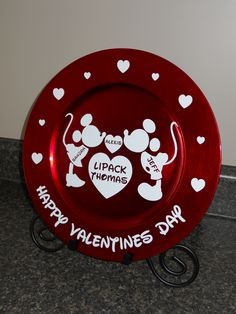 Valentines charger personalized