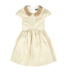 David Charles Collared Brocade Dress in Gold available at Harrods. Shop David Charles childrenswear online & earn reward points. Free Returns on UK orders.
