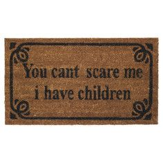 Ha ha! Scare Doormat, $19.20, now featured on Fab.