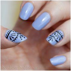My Secret 147 Lavender + acrylic paint #nails #nailart