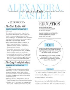 "Beautiful resume design: ""New Yorker"" from Loft Resumes"