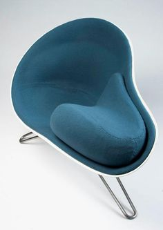 Hanne Kortegaard, Mussel chair, her graduation project from the Danish Design School in Copenhagen