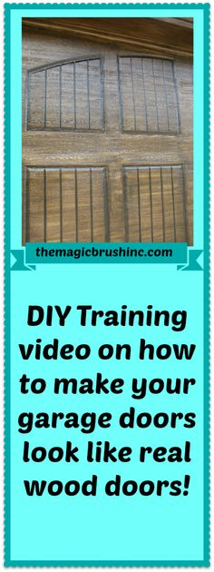 Created by professional faux finisher Jennifer Allwood, this e-video is full of tips, products, and visual instruction to teach you how to give your home instant curb appeal with gorgeous, fauxed garage doors.  The video provides you with the step by step, precise visual instruction of staining garage doors that will give you years and years of durability and beauty.  Gorgeous front doors and garage doors are just a video away for a DIY'er or painter!  You CAN stain your own doors! Only $47!